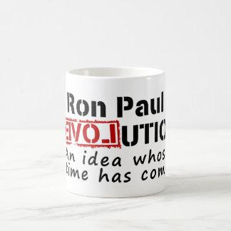Revolución de Ron Paul una idea cuya ha venido hor Tazas