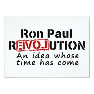 Revolución de Ron Paul una idea cuya ha venido Invitación 12,7 X 17,8 Cm