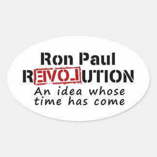 Revolución de Ron Paul una idea cuya ha venido Pegatinas Óval Personalizadas