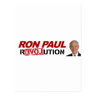 Revolución de Ron Paul - voto del presidente de la Tarjeta Postal