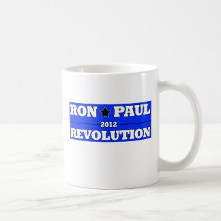 Revolución de Ron Paull 2012: Azul del estilo Taza De Café