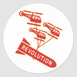 Revolución del arma nuclear etiqueta redonda