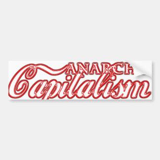 Revolución del capitalista del capitalismo de Anar Pegatina De Parachoque
