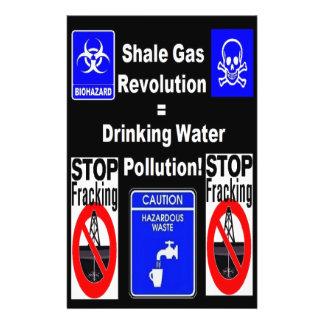 """¡Revolución del gas de la pizarra = contaminación Folleto 5.5"""" X 8.5"""""""