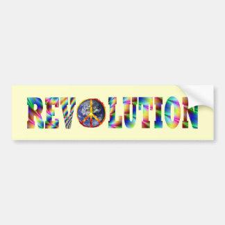 Revolución del Hippie Pegatina De Parachoque