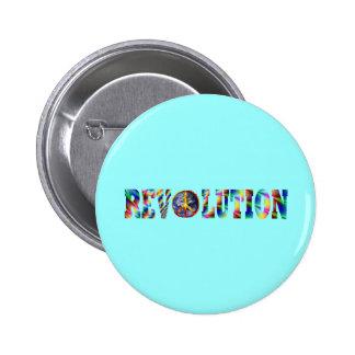 Revolución del Hippie Pin Redondo De 2 Pulgadas