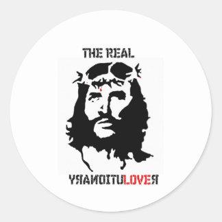 Revolución del Jesucristo Pegatina Redonda
