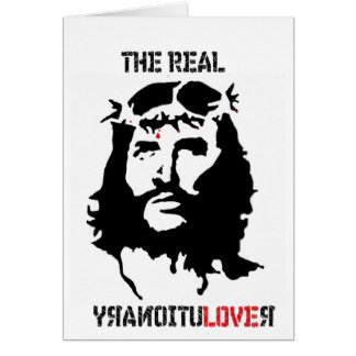 Revolución del Jesucristo Tarjeta De Felicitación