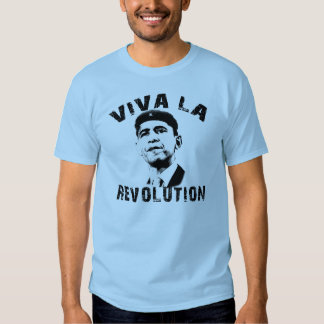 ¡Revolución del La de Viva! Revolución de Obama Camisas