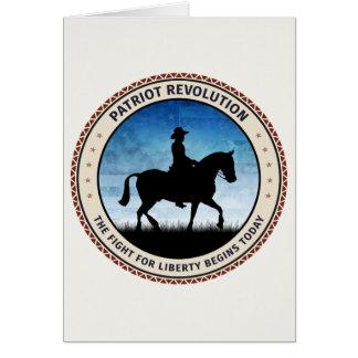 Revolución del patriota tarjeta de felicitación