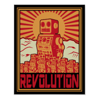 Revolución del robot póster