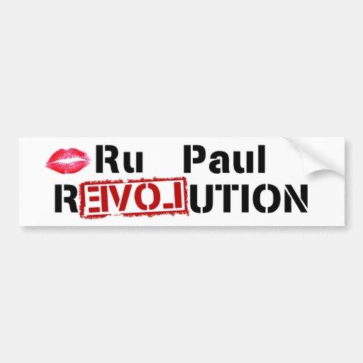 Revolución del Ru Paul Pegatina Para Auto