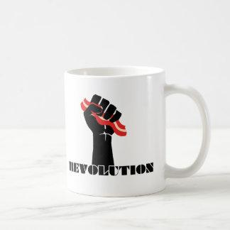 Revolución del tocino para los zurdos taza
