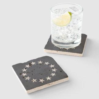 Revolución del vintage de 13 estrellas posavasos de piedra