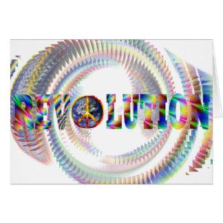 Revolución espiral Trippy Tarjeta De Felicitación
