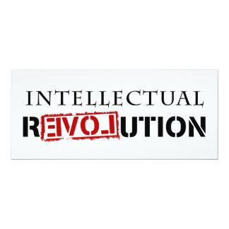 """Revolución intelectual invitación 4"""" x 9.25"""""""