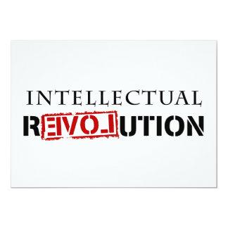 """Revolución intelectual invitación 5"""" x 7"""""""