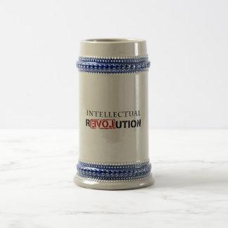 Revolución intelectual jarra de cerveza