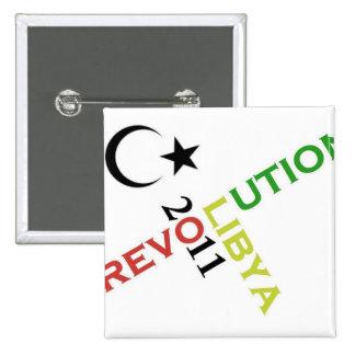 revolución Libia 2011 Pin Cuadrado