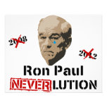 Revolución Neverlution de Ron Paul 2012 Tarjetas Informativas