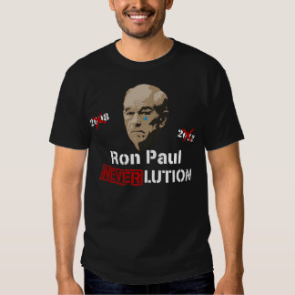 Revolución Neverlution de Ron Paul 2012 Playera