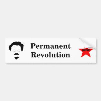 Revolución permanente etiqueta de parachoque