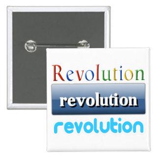 revolución pin cuadrada 5 cm