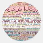 Revolución (por Deleriyes) Pegatina Redonda