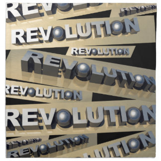 Revolución Servilleta Imprimida