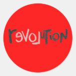 Revolución - Social anti Etiquetas Redondas