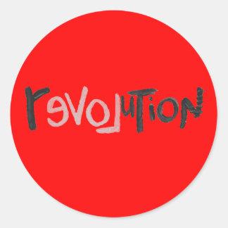 Revolución - Social anti Pegatina Redonda