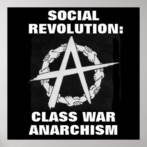 revolución social: poster del anarquismo de la gue