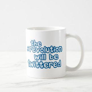 revolución twittered taza de café