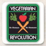Revolución vegetariana posavasos de bebida