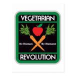 Revolución vegetariana postales