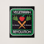 Revolución vegetariana rompecabeza con fotos