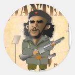 Revolucionario de O Che Etiquetas Redondas