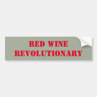 Revolucionario del vino rojo pegatina para auto