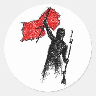 ¡Revolucionario! Pegatina Redonda