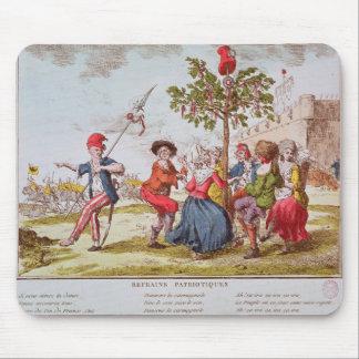 Revolucionarios franceses que bailan el carmagnole tapetes de ratón