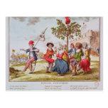 Revolucionarios franceses que bailan el carmagnole tarjetas postales