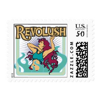 Revolush Crystal Method Actors postcard stamp