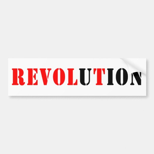 Revolution B Bumpersticker Car Bumper Sticker
