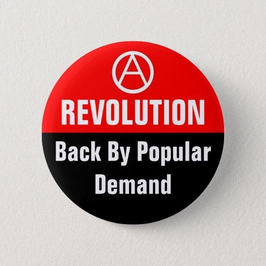 revolution back by popular design pinback button
