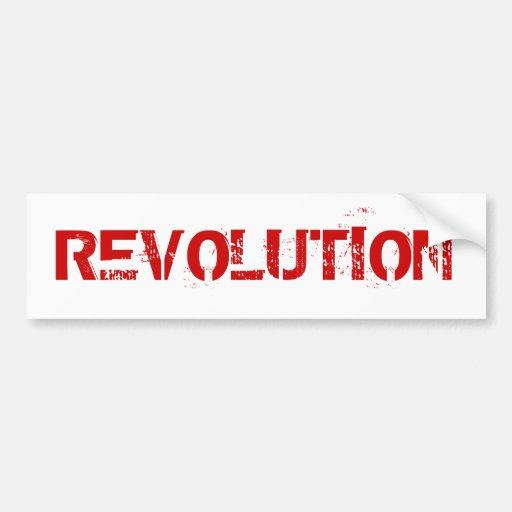 REVOLUTION CAR BUMPER STICKER
