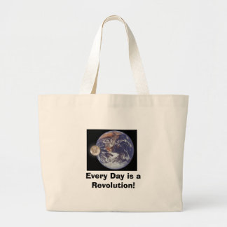 Revolution, Every Day is a Revolution! Jumbo Tote Bag