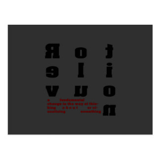 Revolution Font Art a fundamental change Postcard