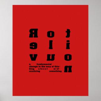 Revolution Font Art a fundamental change Posters