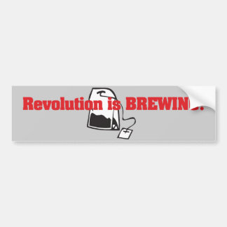 Revolution Is Brewing Bumper Sticker