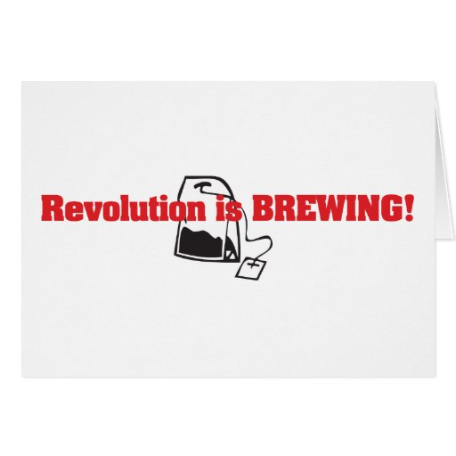 Revolution Is Brewing Card